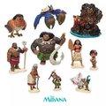 6pcs 10PCS set Moana Princess Presale 2016 NEW Moana Maui Waialik Heihei Action Figures Toy Decoration