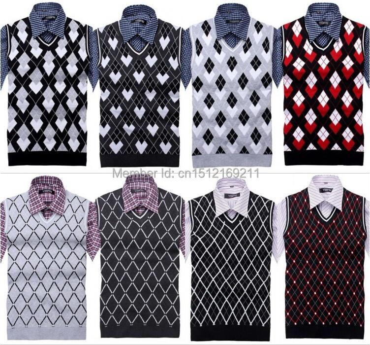 2014 мода новый бренд мужской жилет без рукавов свитер мужчины v-образным вырезом свободного покроя жилет мужская свитера жилет