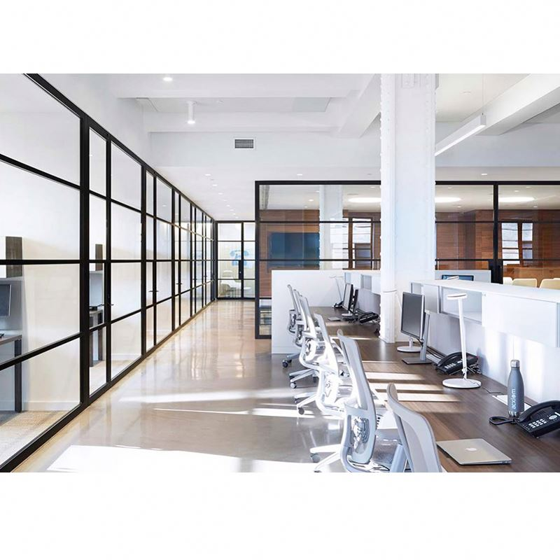 Modern Glass Office Partition Walls