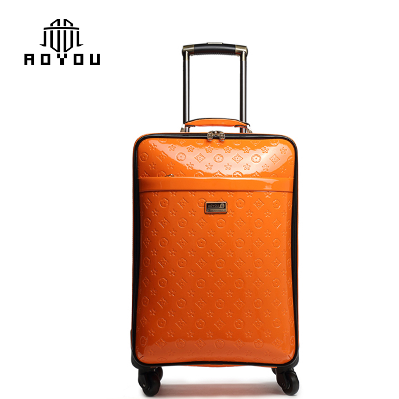 3pcs 16/20/24 inch Pu leather Trolley luggage set travel luggage suitcase