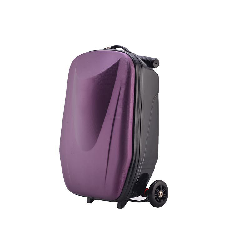 Factory high quality multi-function foldable scooter suitcase trolley scooter adult luggage