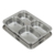 Stainless Steel Dinner fast food plate with 4 compartments