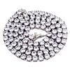 White tennis necklace