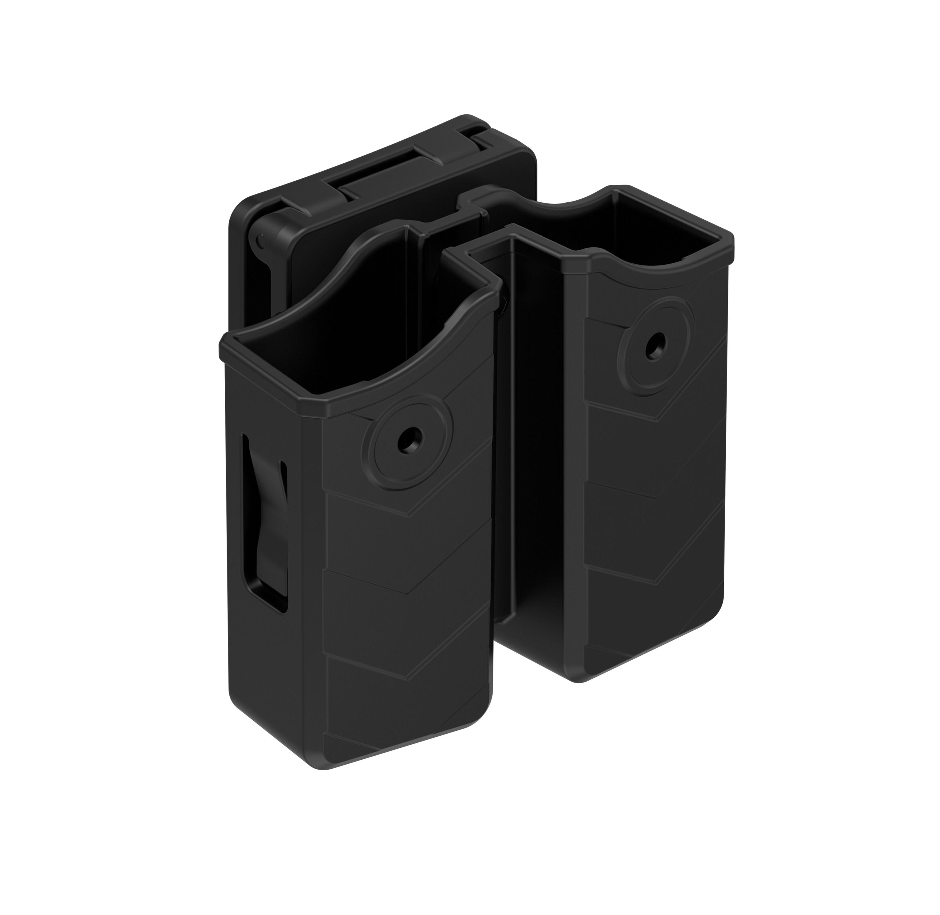 Новая военная тактическая охотничья сумка для магазина Скрытая универсальная двойная стек Магнитная сумка 9 мм/.40 держатель с зажимом для ремня