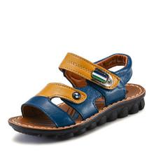 Brand Shoes Boys Summer Sandals Leather Sandals Children Beach Shoes