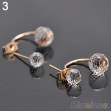 Женские серьги-гвоздики с кристаллами, стразы из нержавеющей стали, Ювелирное Украшение(Китай)