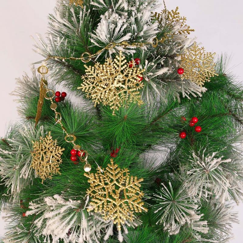 Fashion Snowflake Ornaments Christmas Tree Decorations Home Festival Decor New