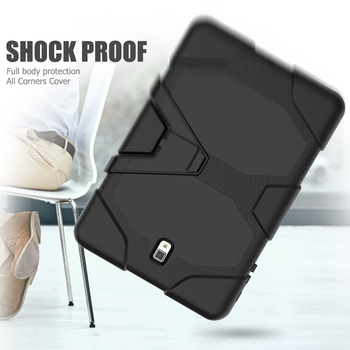 For Samsung Galaxy Tab S4 10.5 T830 rugged silicone cover case with strong kickstand