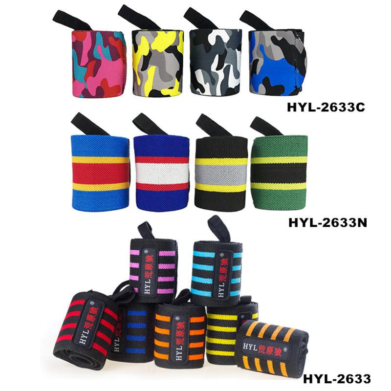 HYL-2633 Manufacturer cheap adjustable weightlifting wrist straps