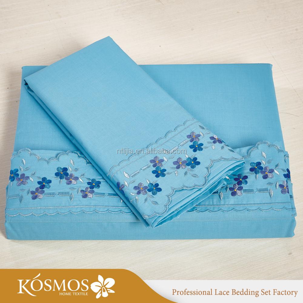 Постельное белье KOSMOS из полихлопка 50%/50%, простыня с вышивкой Sabanas