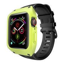 Роскошный силиконовый ремешок для Apple Watch Band Series 5 4 3 2 40 мм/44 мм/38 мм/42 мм браслет с корпусом ПК ударопрочный спортивный ремень(Китай)