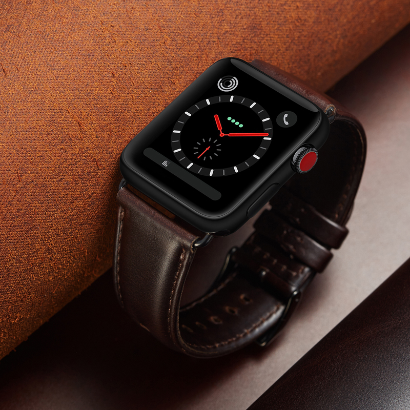 Amazon Hot Selling Watchband Genuine Leather Watch Strap Band for Apple Watch