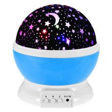 Проектор Galaxy с вращающейся лунной звездой, романтическая проекционная лампа, Звездный skylampa, ночник, шар(Китай)