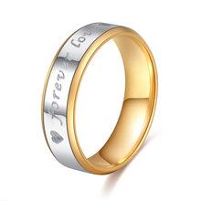 Какана кольца из нержавеющей стали для женщин Forever Love круг помолвка персонализированные пользовательские модные ювелирные изделия кольца(Китай)