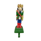 Nutcracker Resin Stocking Holder for Christmas