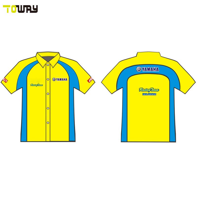 2018 mens button down blank racing shirts