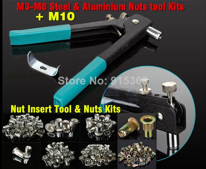 Rivet Nut tool M3-M10 Add $2 =120pcs nuts Rivet Nut gun Kits