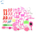50Pcs XFC Doll Accessories Shoes Bag Mirror Hanger Comb Bracelet For Dolls Decorations Children Girl Gift