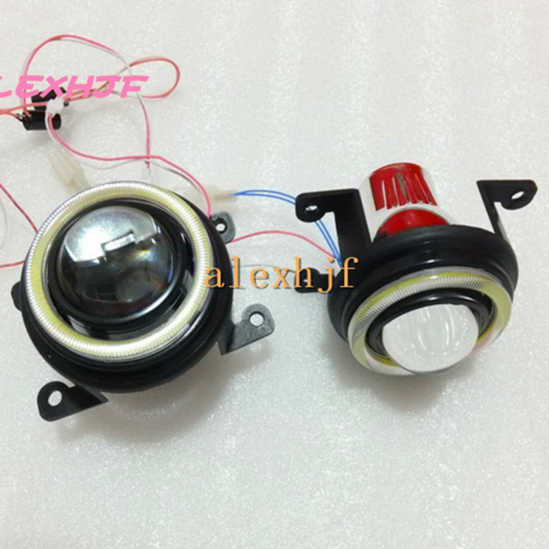 Bifocal Lens Fog Lamp Assembly DRL For Honda CRV Fit City