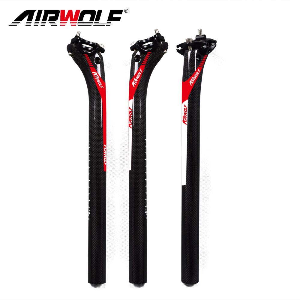 AIRWOLF Carbon Fiber Seatpost 27.2//30.8//31.6mm Bicycle MTB Road Bike Seat Post