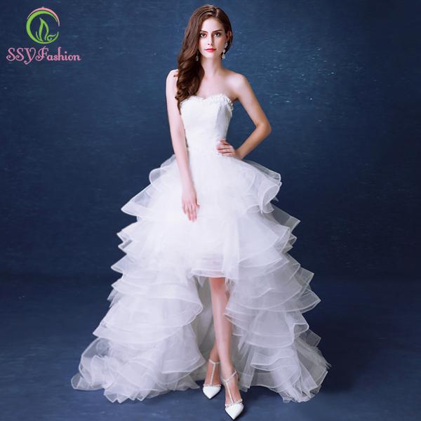 Ssyfashion Long Sleeve Wedding Dresses The Bride Elegant: Aliexpress.com : Buy SSYFashion White Lace Wedding Dresses