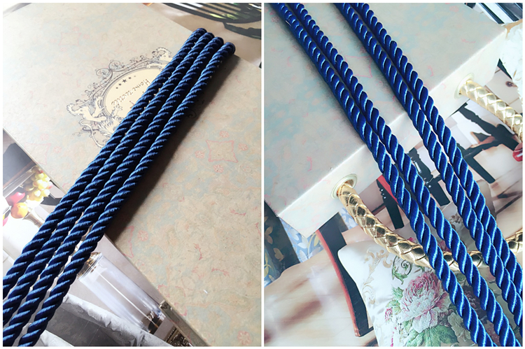 Sofa Cushion Cover Pipping Cord Three Strands Of Blue Rope