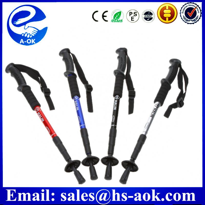 Carbon fiber 10%-100% foldable Trekking pole nordic stick,walking stick ,telescopic hiking pole with flip lock
