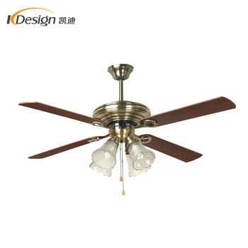 Newest cheap price deluxe electric ceiling fan lamp 4 wood grain blade AC copper motor decorative ceiling fans