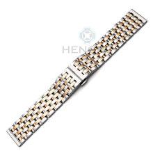 Ремешок для часов из нержавеющей стали, 20 мм 22 мм, для мужчин и женщин, прямой браслет, серебристый, розовый, золотой, ремешок для часов с заст...(China)