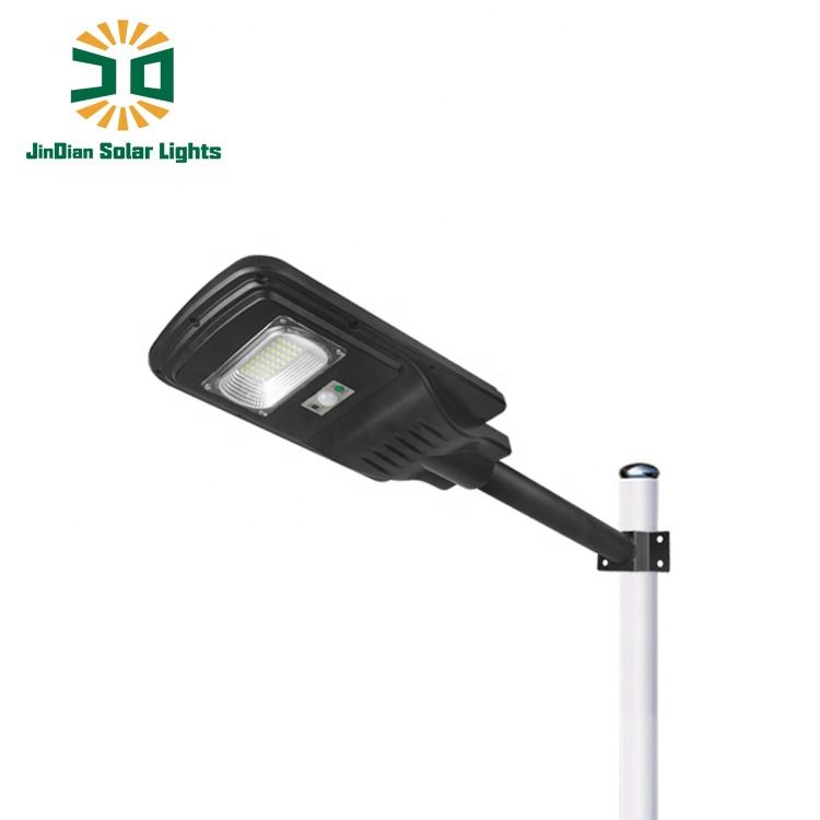 Jindian High efficient solar panels waterproof 20W IP65 street black LED lamp