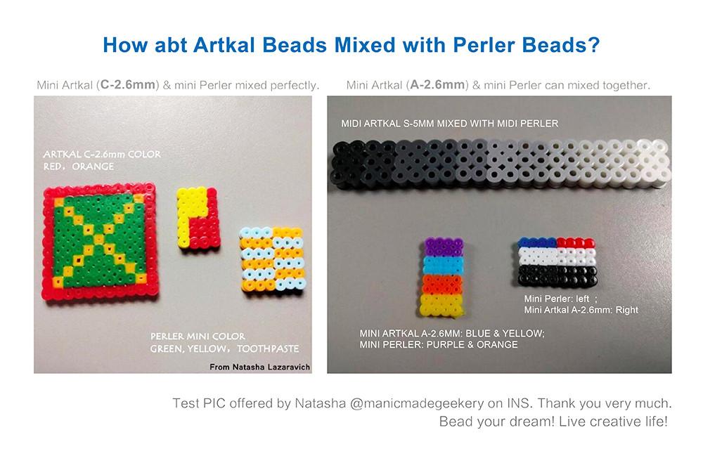 Artkal Beads C-2 6mm 48 Color Box Set DIY Jewelry Fashion Kits Perler Hama  Beads Toys CC48