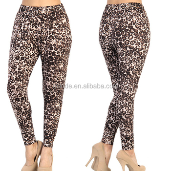 Old Fashioned Female Pants Wholesale Bulk Leopard Print Loose Fit Casual Pants For Women