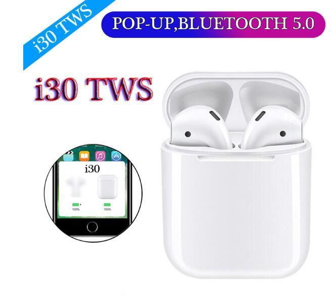 i30 TWS PK W1 Chip LK-TE9 i20 i10 i12 Tws Wireless Earphone 6D Super Bass Earphones Touch Control Earbuds i 30 - idealBuds Earphone | idealBuds.net