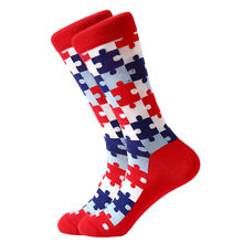 MYORED 1 пара, мужские носки из чесаного хлопка, яркие цветные, смешные мужские носки, короткие носки для бизнеса, повседневные, под платье, пода...(China)