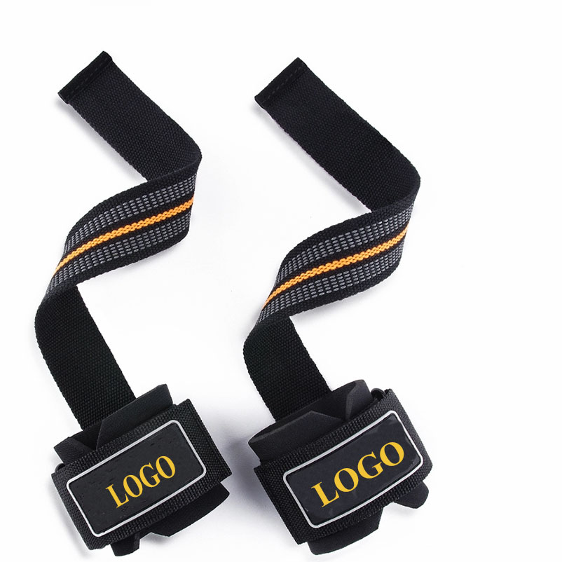 2019 Hot Sale Bodybuilding Power Lifting Wrist Supports Assist Grip Strength Weight Lifting Straps for Sports
