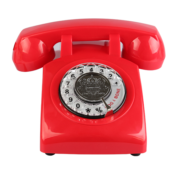 Classic Design ROTARY Retro Rotary Dial Bell Desk Telephone -Pink