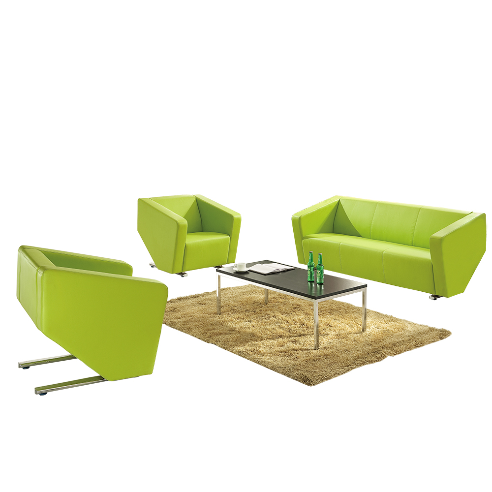 2019 black leather reception area sofa cherry office furniture