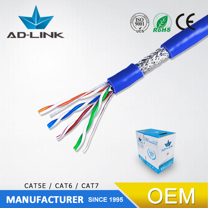 f luke test passed lan cable cat5 double shielded cable sftp pure copper