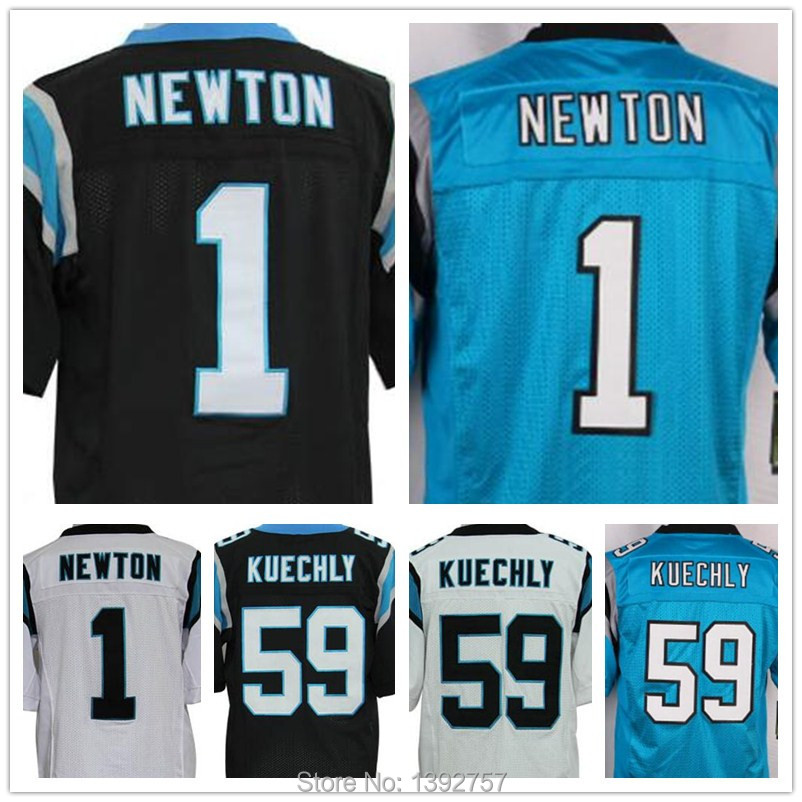 newest 72de3 7c040 Cheap 100 Stitched 1 Cam Newton Jerseys American Football 59 ...