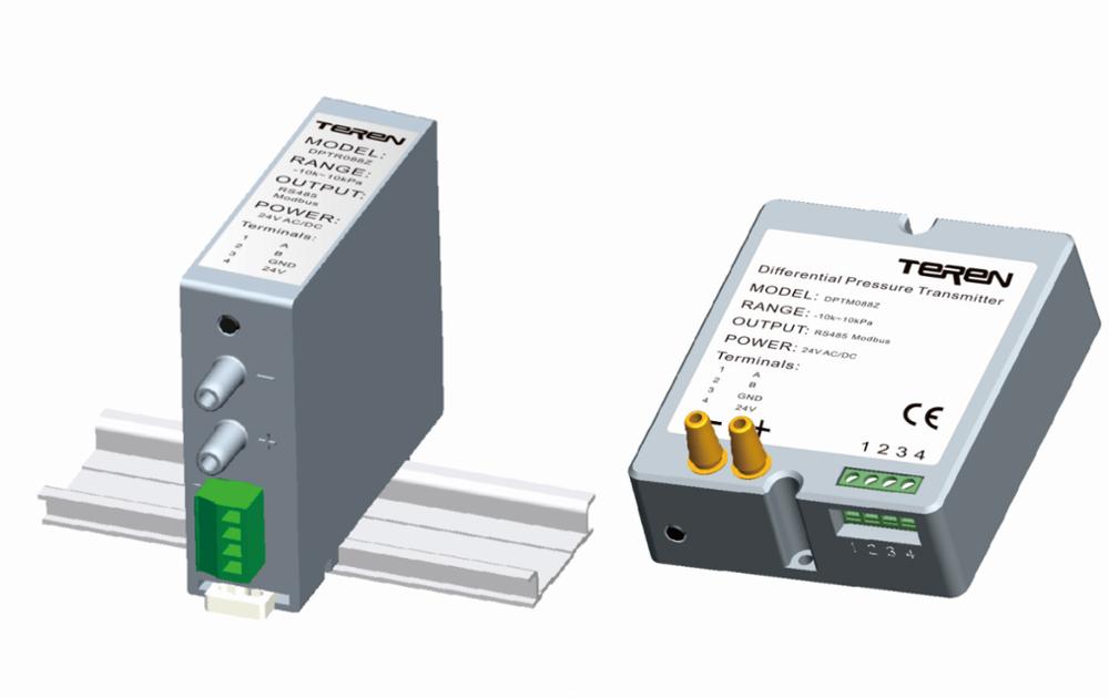 DPTR Rail Mount differential pressure transmitter