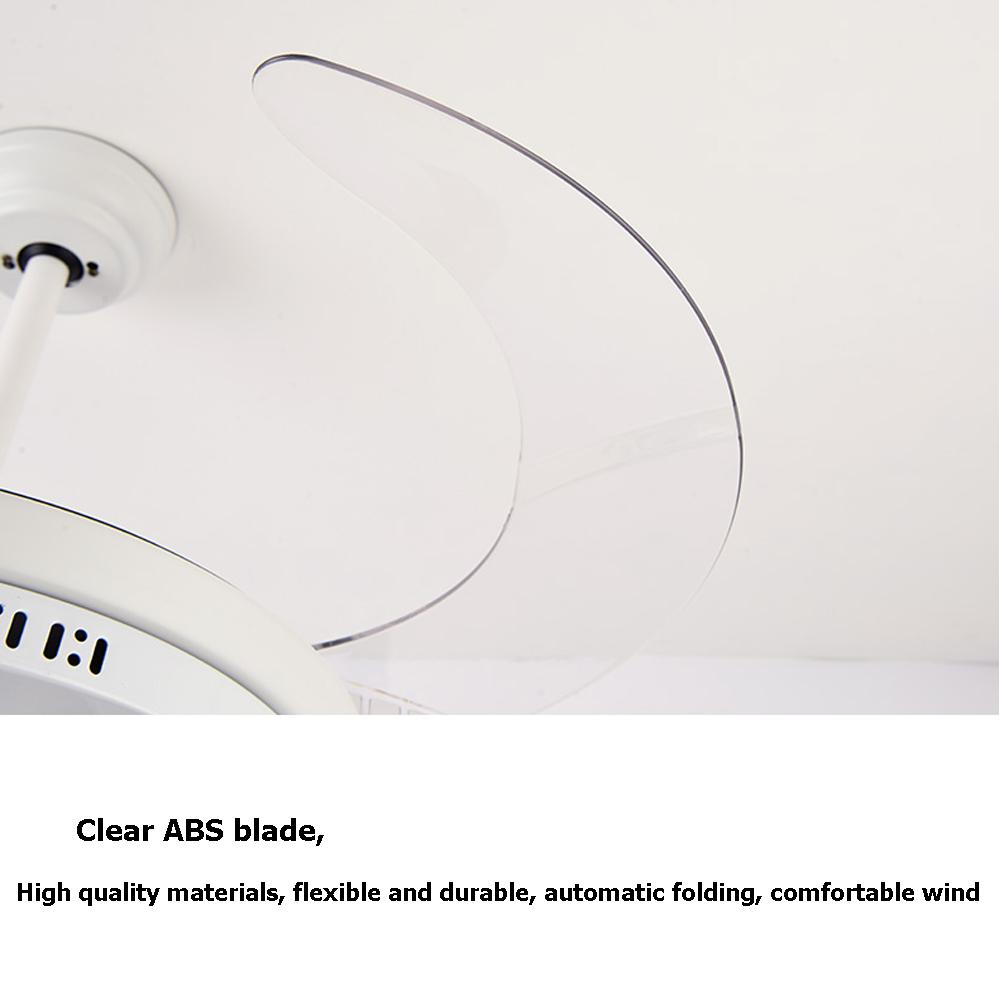 Современный 42 'обратимый выдвижной складной лопасти потолочный вентилятор со светодиодной подсветкой люстра