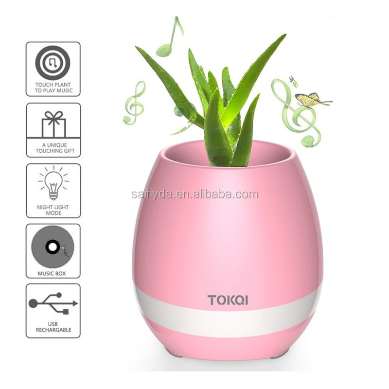 Smart Music Flower Pot Bluetooth Speaker