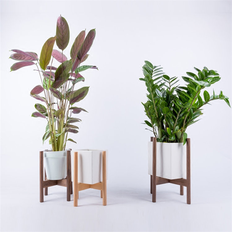 Adjustable Plant Stand Extendable Bamboo Plant /& Flower Pot Holder