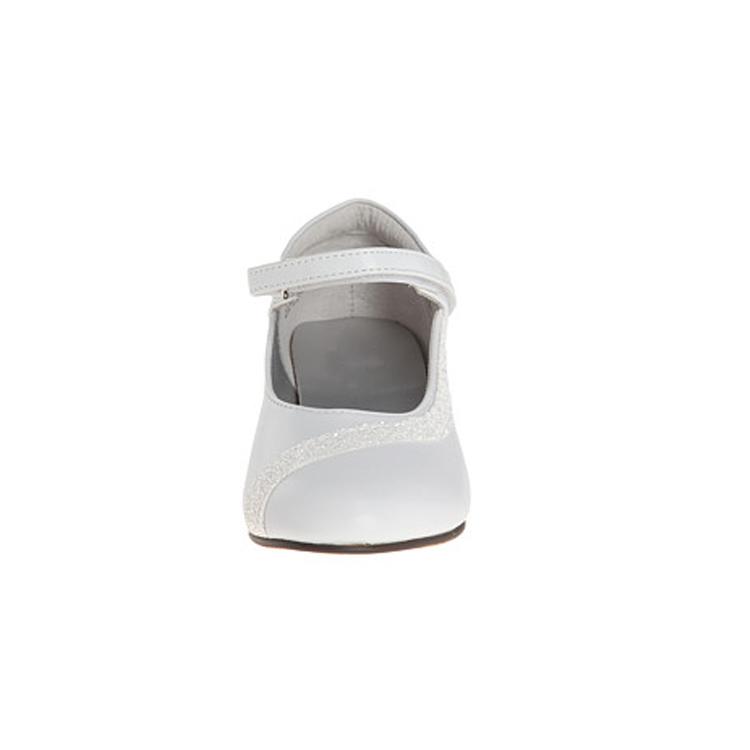 Новые модные атласные туфли белого цвета на высоком каблуке для детской вечеринки банкета детской обуви