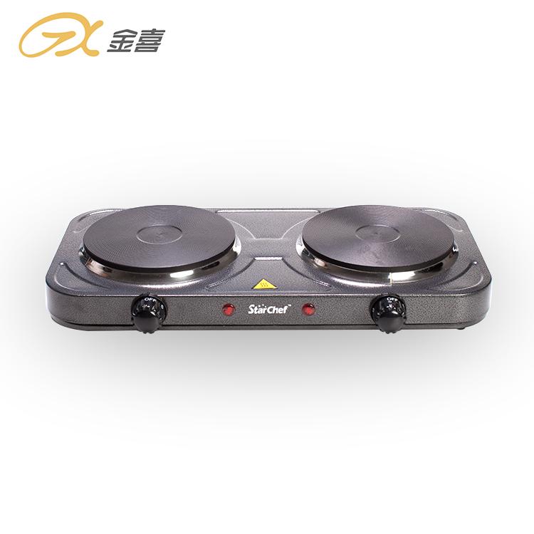 JX-6245A 2000 Вт портативная электрическая плита с двойной горелкой и автоматическим зажиганием