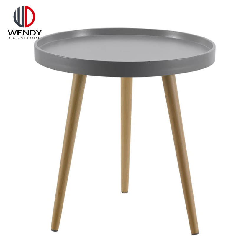 Leisure Simple Style Round PP Plastic Side Table Coffee Table For Kid