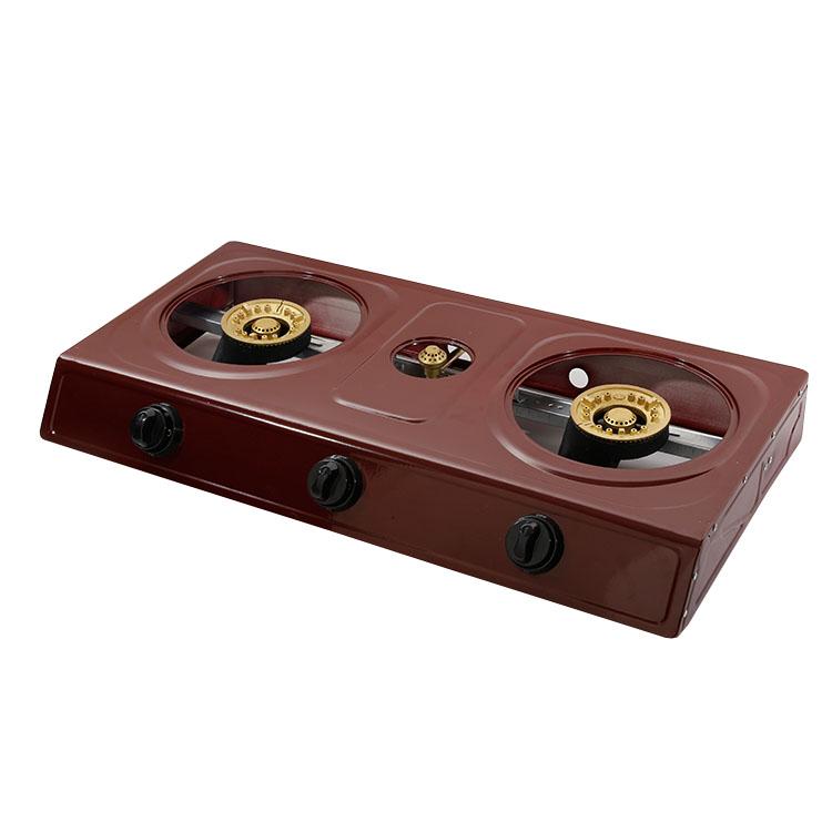 JX-7003B переносная настольная легкая автоматическая горелка с двойным зажиганием для кемпинга Бутановая газовая плита, газовые конфорки