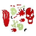 Halloween Decorations Thermoplastic Rubber Skull Window Stickers Fridge Sticker Holiday Gift Decoration