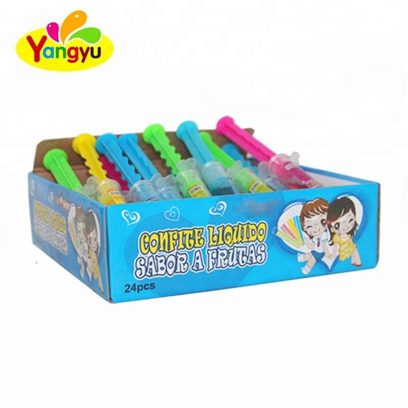 Halal hot sales cartoon 8g Injection Fruit Jam maker Syringe Candy