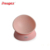 Detachable pet dog bowl convenient cleaning angle adjustable pink food grade durable dog cat bowl